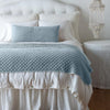 Bella Notte Linens Silk Velvet Quilted Cloud Throw Blanket