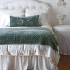 Bella Notte Linens Silk Velvet Quitled Eucalyptus Throw Blanket
