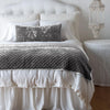 Bella Notte Linens Silk Velvet Quilted Fog Throw Blanket