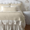 Bella Notte Linens Silk Velvet Parchment Throw Blanket