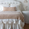 Bella Notte Linens Silk Velvet Quilted Pearl Throw Blanket