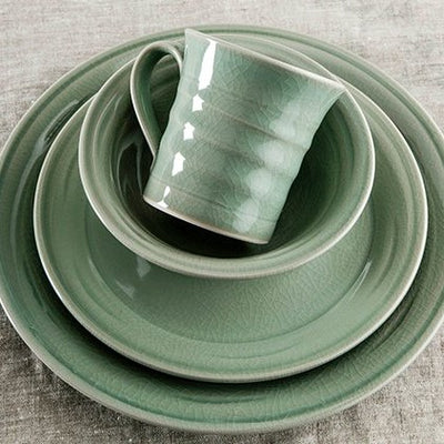 Simon Pearce Belmont Crackle Celadon Dinnerware