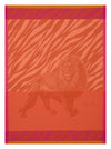 Le Jacquard Francais Planche Animaliere Savane Orange Tea Towel