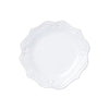 Vietri Incanto Stone Baroque White Dinner Plate