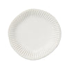 Vietri Incanto Stone Stripe White Dinner Plate