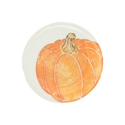 Vietri Pumpkins Medium Orange Salad Plate