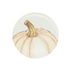Vietri Pumpkins Medium White Pumpkin Salad Plate