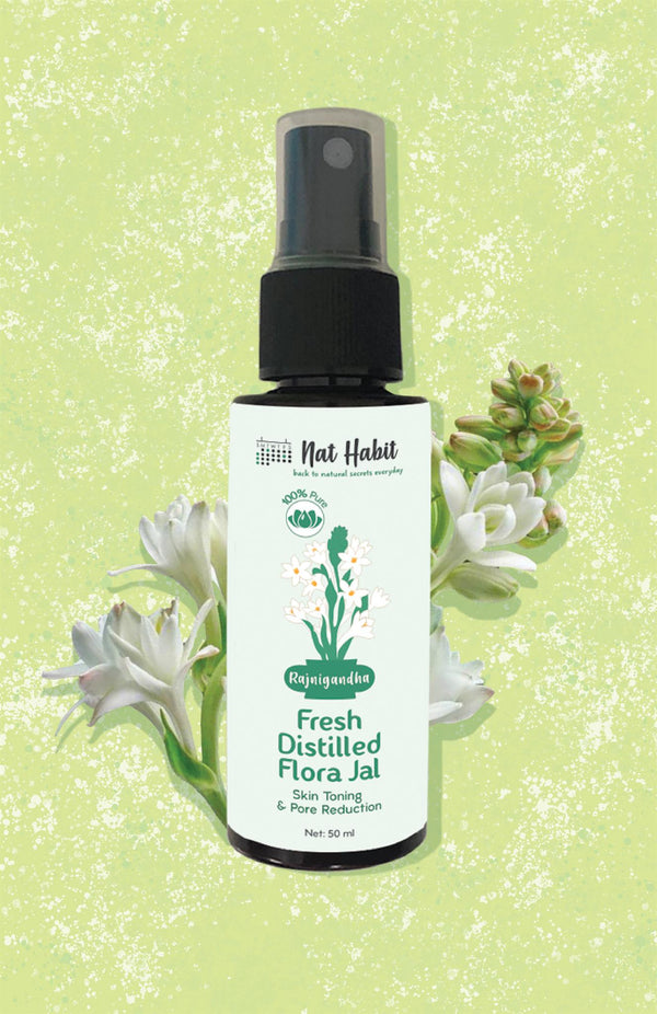Pure Rajnigandha Flora Jal <br><i>for Toning & Pore Reduction</i>