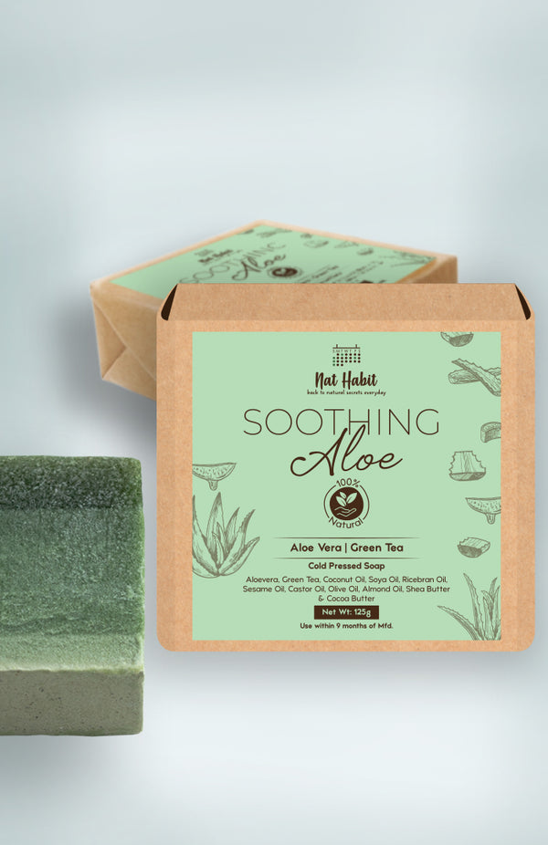 Cold Pressed Soothing Aloe Soap 125g<br><strong>Available in all cities</strong>