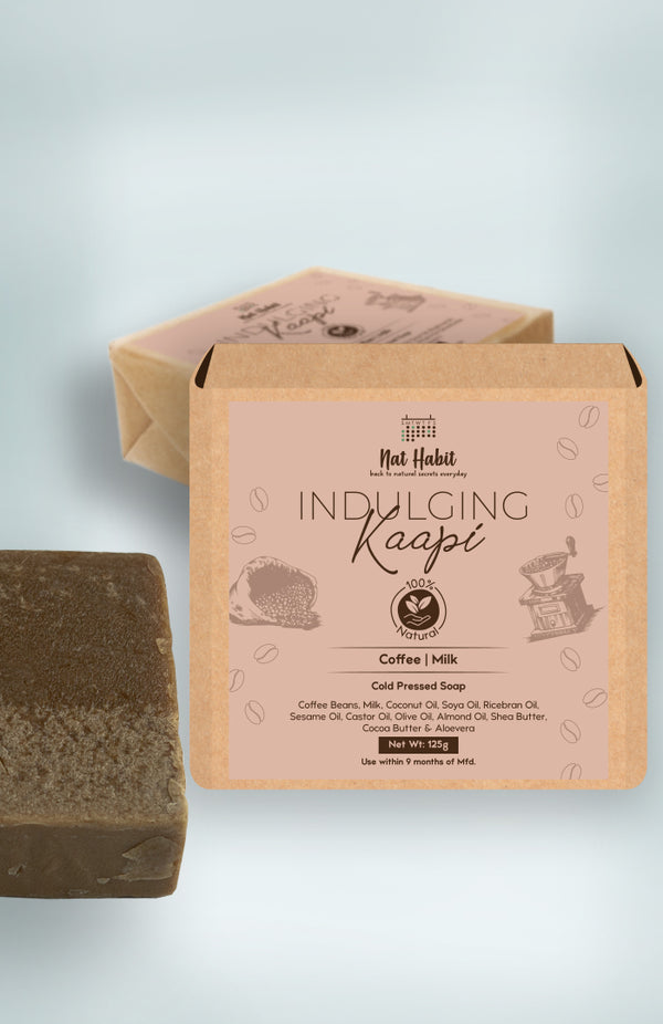 Cold Pressed Indulging Kaapi Soap 125g<br><strong>Available in all cities</strong>