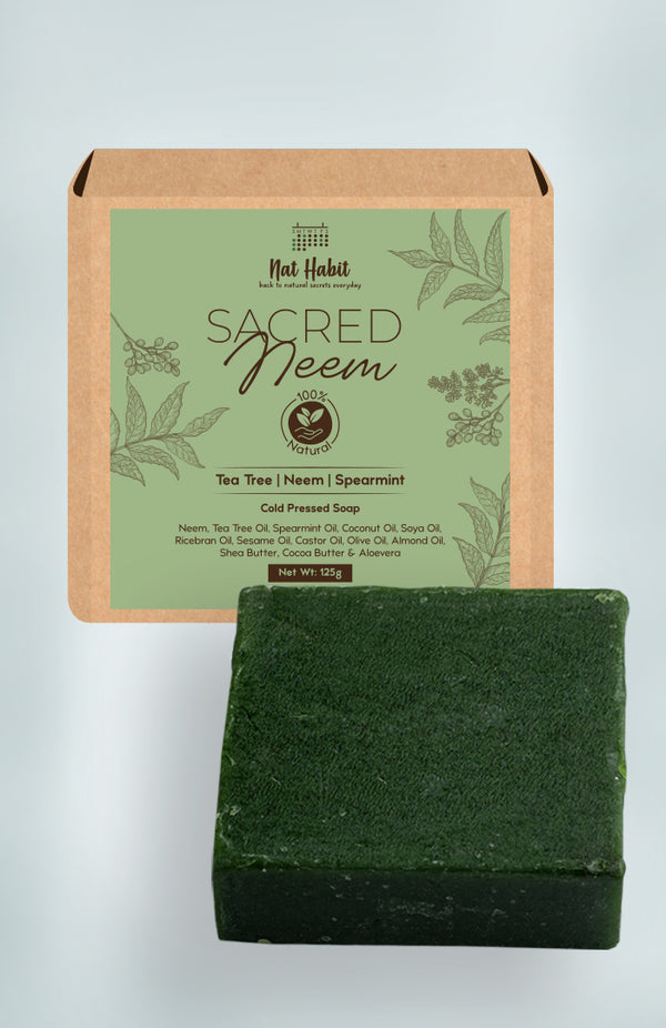 Cold Pressed Sacred Neem Soap 125g<br><strong>Available in all cities</strong>