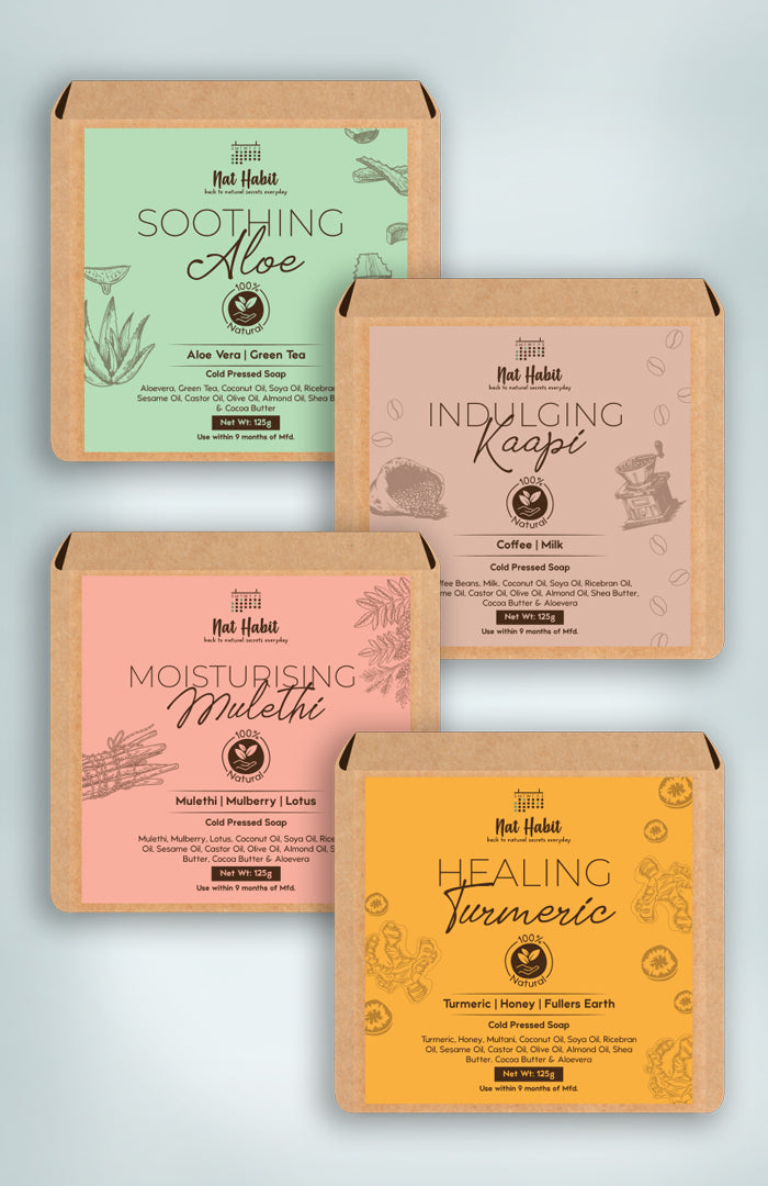 Tanmaya Collection 125g each <br><i>4 x Cold Pressed Soaps</i><br><strong>Available in all cities</strong></br>