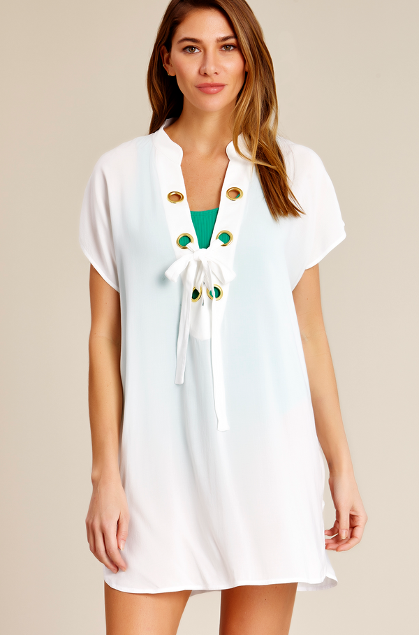 Catalina - Lace Up Tunic Cover Up