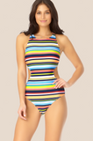 Catalina - Highneck Cutout One Piece Swimsuit