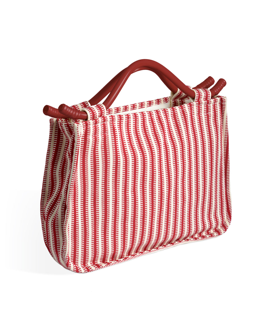 The Susie Bag - Jajim Stripe - Red