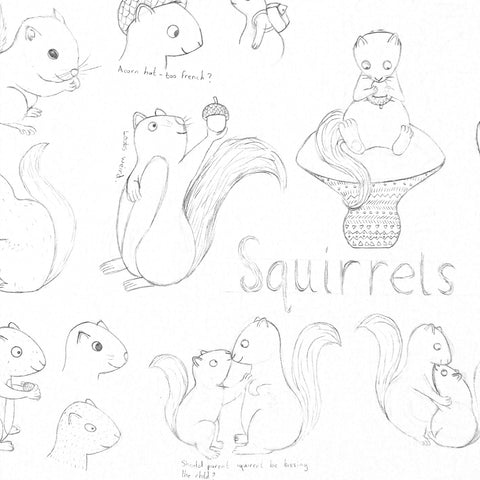 Squirrel character designs