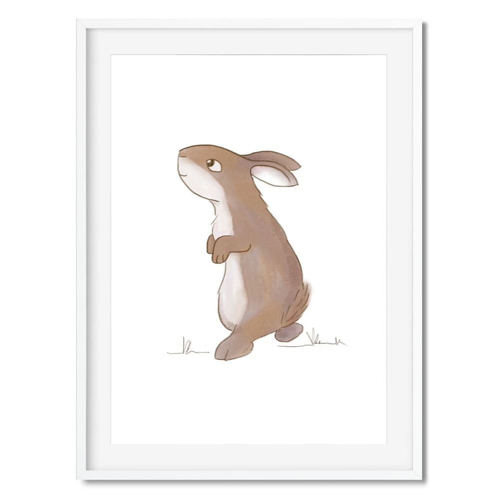 A cute, brown bunny rabbit illustration.
