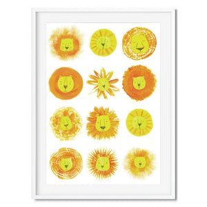 Lion heads print ideal for safari themed bedrooms.