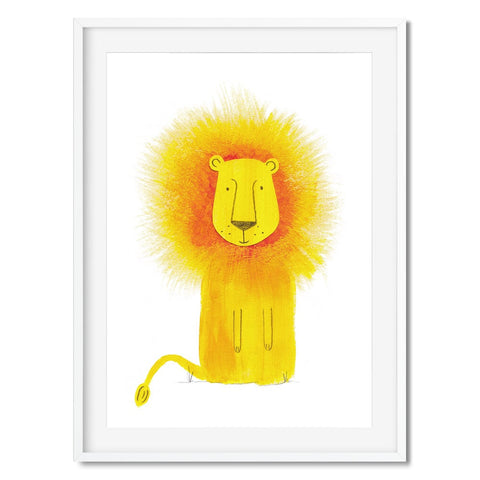 Wall art of a lion illustration for kids.