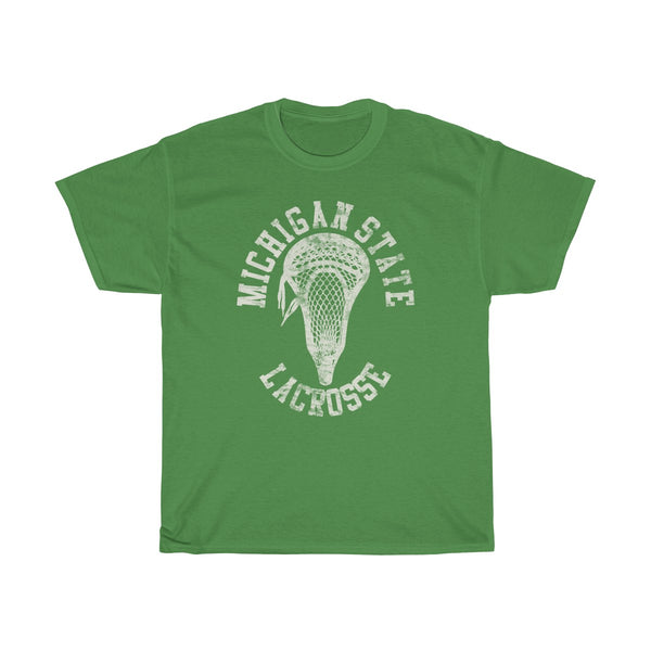 Michigan State Lacrosse With Vintage Lacrosse Head Shirt