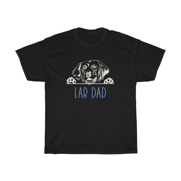Lab Dad with Labrador Retriever Dog T-Shirt