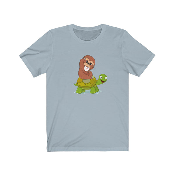Sloth Riding Turtle Funny T-Shirt