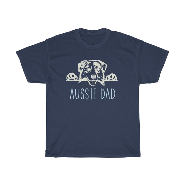 Aussie Dad with Australian Shepherd Dog