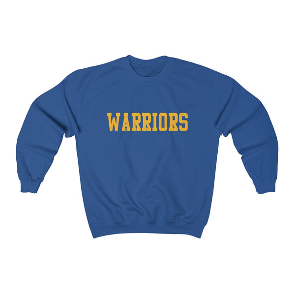 Warriors Sweatshirt (Gold Athletic Text on Blue)
