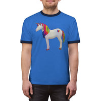 Rainbow Unicorn Ringer Tee