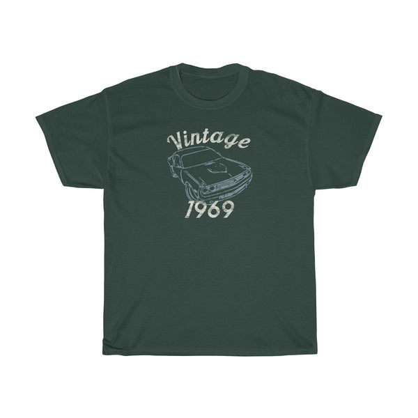 Vintage Muscle Car 1969 50th Birthday Shirt