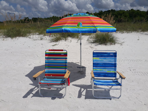 Week Rental Umbrella and Choice of 2 Chairs
