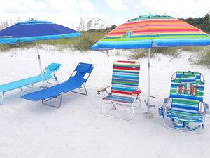 Week Rental 2 Umbrellas and Choice of 2 Chairs