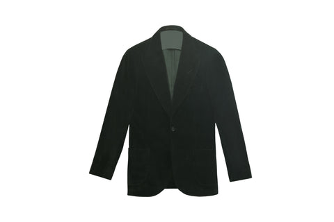 WILLIAM LEI DARK GREEN VELVET THE ERA JACKET