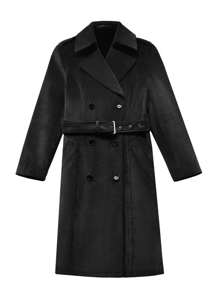 CORDUROY BELTED TRENCH COAT (PRE-ORDER)