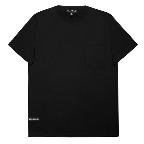 CREWNECK POCKET T-SHIRT - BLACK