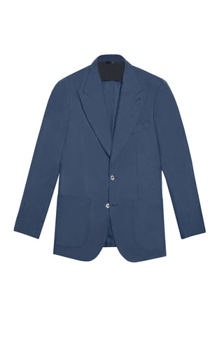 BLUE HERRINGBONE CASHMERE BLEND THE ERA JACKET