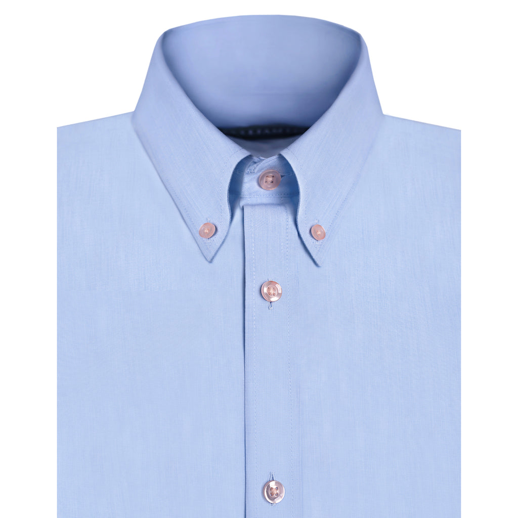 SIGNATURE BUTTON DOWN POPLIN SHIRT - BLUE