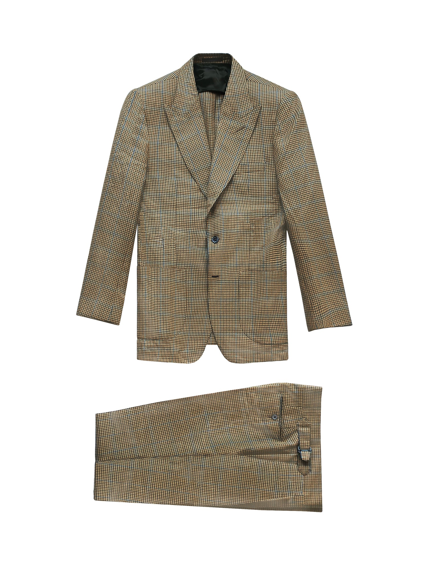 (SAMPLE SALE - 40US) BROWN HOUNDSTOOTH WOOL THE ERA SUIT