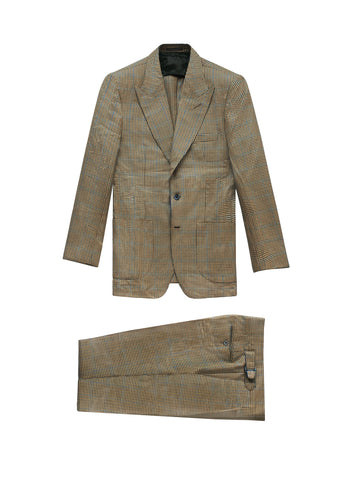 BROWN HOUNDSTOOTH WOOL THE ERA SUIT (SOLD OUT)