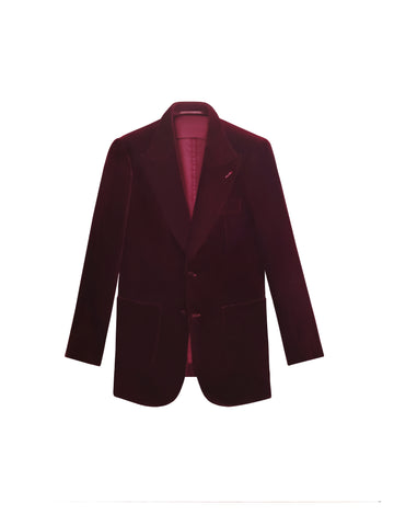 BURGUNDY VELVET THE ERA JACKET