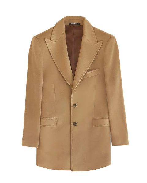 (SAMPLE SALE - 40US) CAMEL CASHMERE BLEND COAT