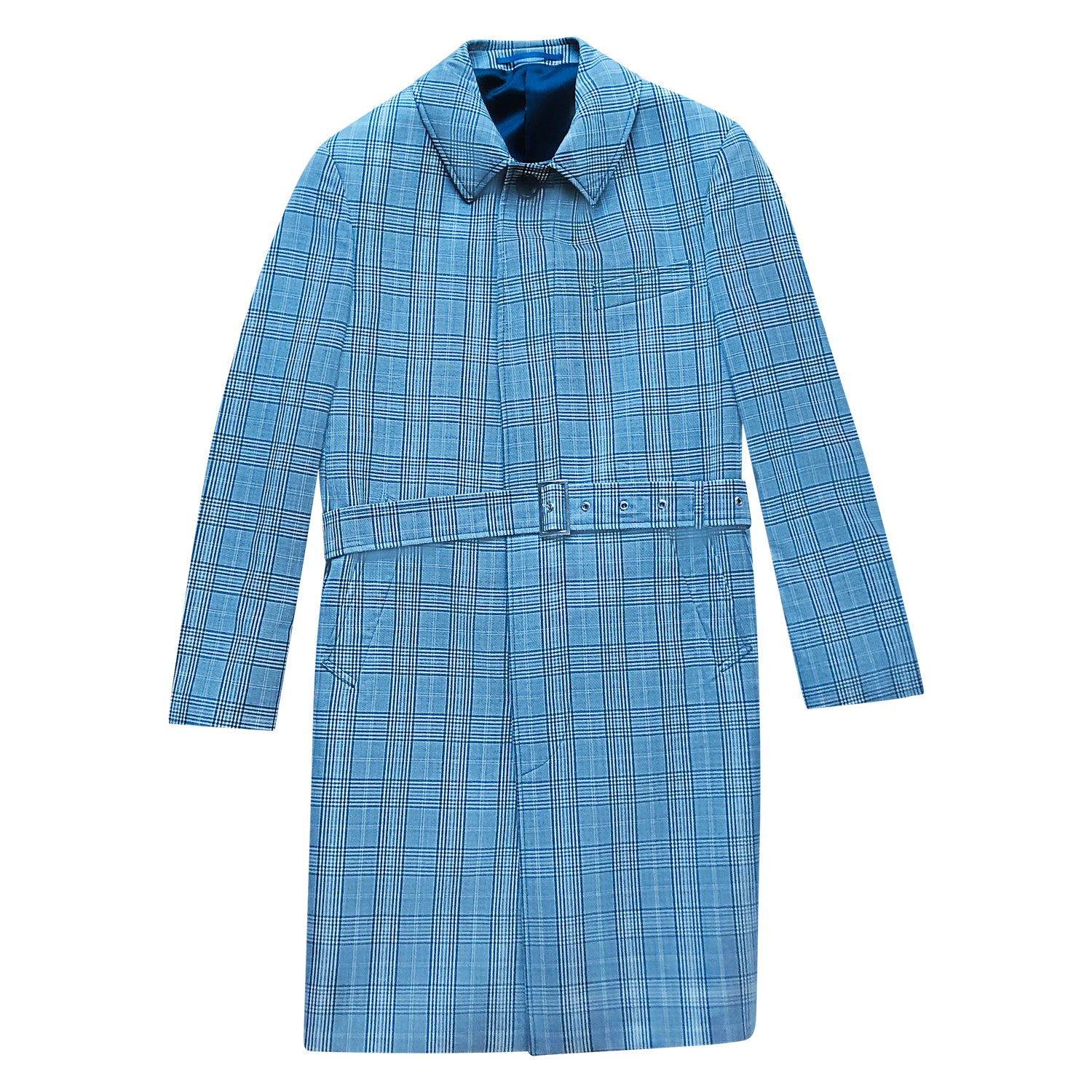 PRINCE OF WALES WOOL TRENCH COAT