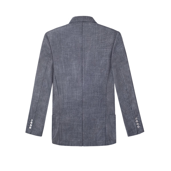 GRAY CASHMERE-SILK BLEND THE ERA JACKET