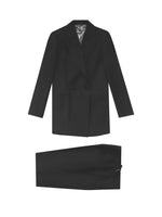 BLACK MOHAIR DOUBLE-BREASTED TUXEDO (PRE-ORDER)