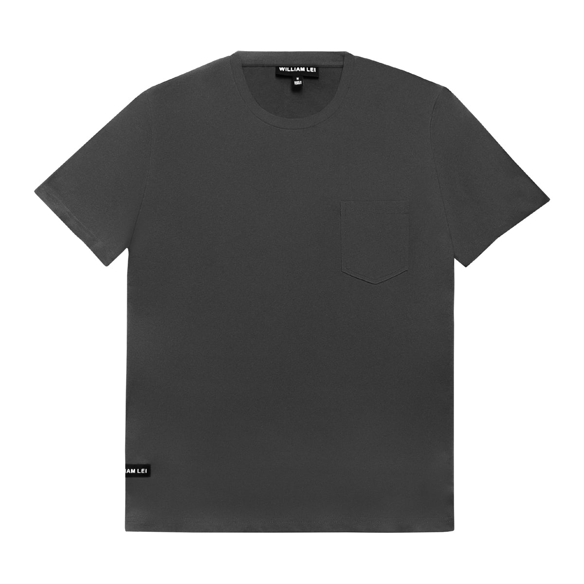 CREWNECK POCKET T-SHIRT - GREY