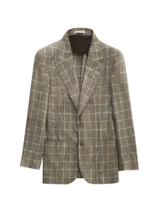 (SAMPLE SALE - 40US) WINDOWPANE CASHMERE-BLEND THE ERA JACKET