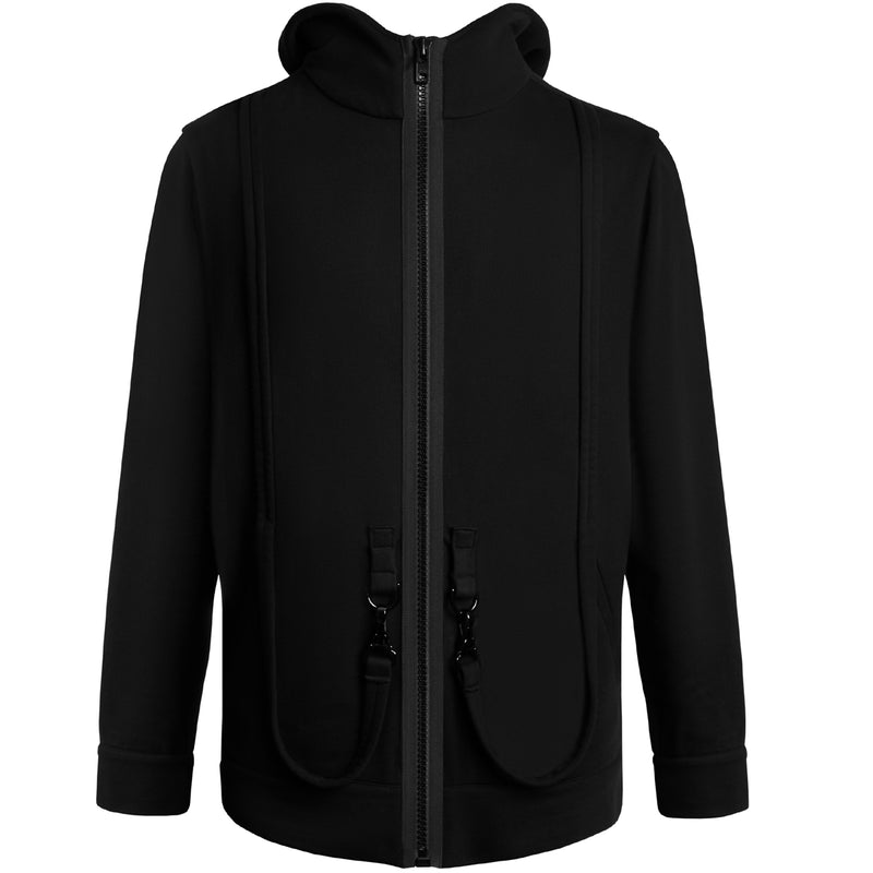 STRAPPED BUCKLE D-RING HOODIE