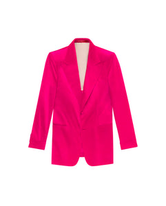 FUSCHIA VELVET THE ERA JACKET