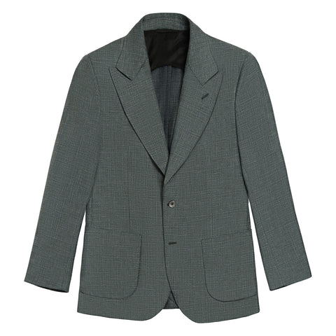 OLIVE SILK LINEN BLEND THE ERA JACKET