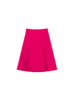 FUSCHIA VELVET PLEATED SKIRT